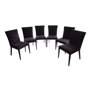 T.H. Robsjohn-Gibbings for Widdicomb Grey Ultra-Suede Dining Chairs - Set of 6