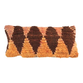 Vintage Mid-Century Berber Rug Lumbar Pillow For Sale