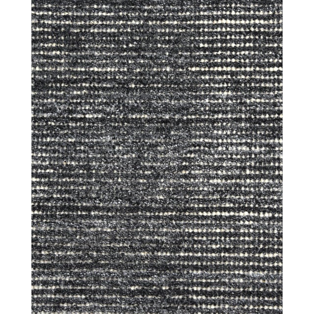 Textile Halsey, Contemporary Solid Hand Loomed Area Rug, Charcoal, 5 X 8 For Sale - Image 7 of 9