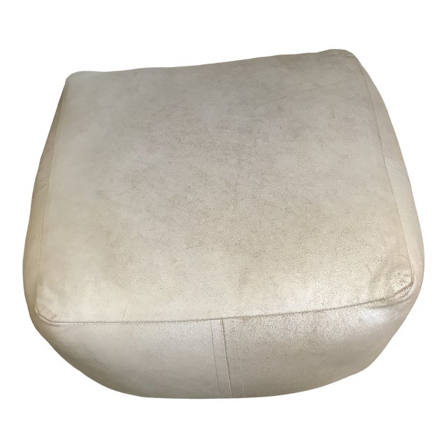 Modern Dosa Silver Pouf For Sale