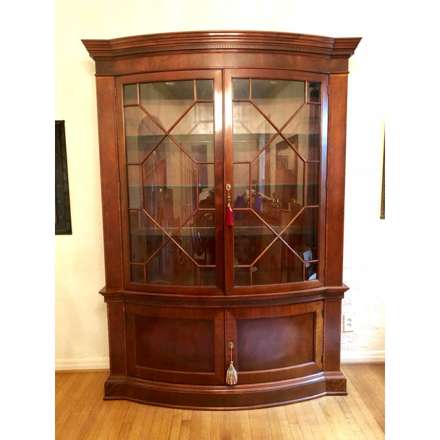 White Baker Mahogany China Cabinet Historic Charleston Collection For Sale - Image 8 of 8