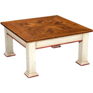Italian Square Coffee Table For Sale