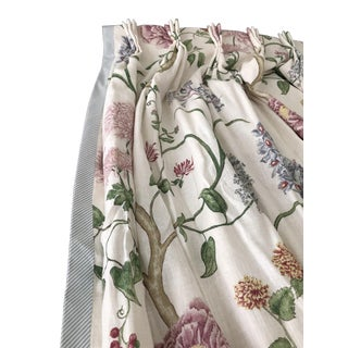 Custom Made Linen Curtains and Valences - Set of 6 For Sale