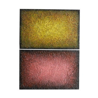 """Tom Melillo """"Neon Abstract Series V"""" Mixed Media on Canvas Painting For Sale"""