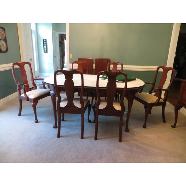 Wood Queen Anne Henkel Harris Dining Set For Sale - Image 7 of 10