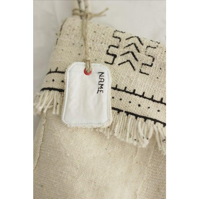 White Mudcloth Christmas Stocking - Image 3 of 6