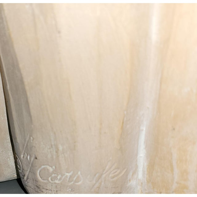Plaster Vintage Carsuke Faux Bois Coffee Table For Sale - Image 7 of 8