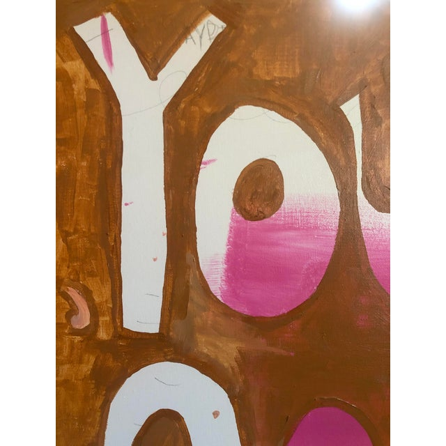 2020s You Say Go Fast Abstract Painting by Virginia Chamlee For Sale - Image 5 of 7