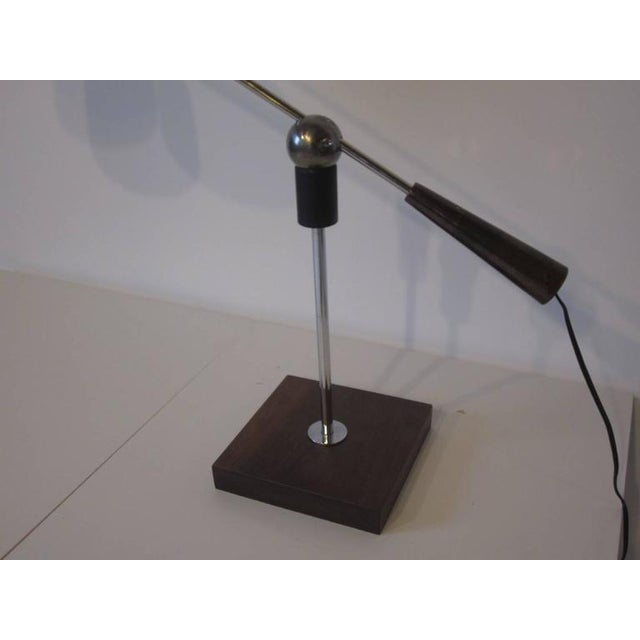 Mid-Century Modern Heifetz Adjustable Desk or Table Lamp by Gilbert Waltrous For Sale - Image 3 of 9