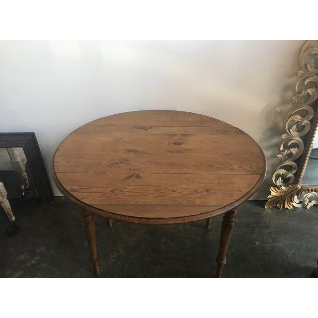 Double Drop Leaf Antique Pine Table For Sale - Image 4 of 9