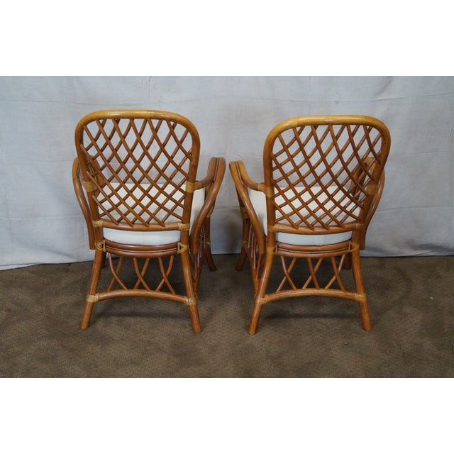 South Sea Rattan Collection Glass Top Dining Set For Sale - Image 4 of 10