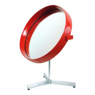Red Laquered Luxus Table Mirror