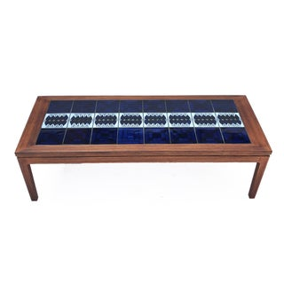 1960s Danish Modern Rosewood & Tile Coffee Table Preview