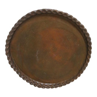 Mid-Century Brass Etched Tray For Sale