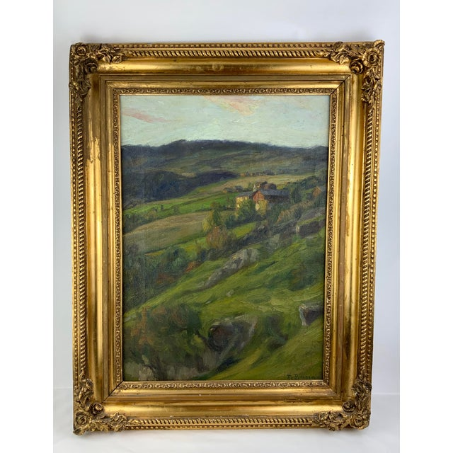 19th Century Plein Air Landscape by Fredrik Borgen, Framed Oil Painting For Sale - Image 13 of 13