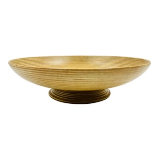 20th Century Modern Paavo Asikainen Turned Wood Laminate Bowl For Sale