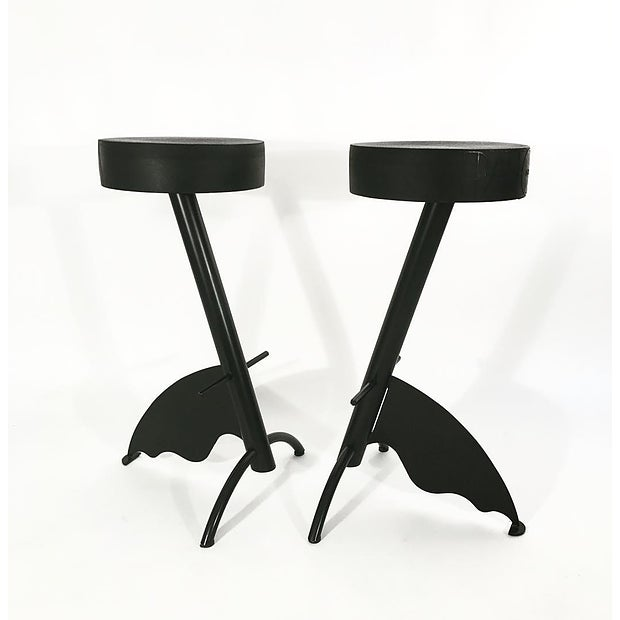 Contemporary Pair of Platform Stools by Maurizio Peragalli For Sale - Image 3 of 3