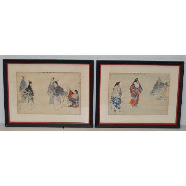 19th Century Japanese Woodblock Prints of Sporting Scenes - a Pair For Sale - Image 13 of 13
