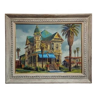 Ben Abril -Historic Los Angeles House -Oil Painting on Canvas For Sale