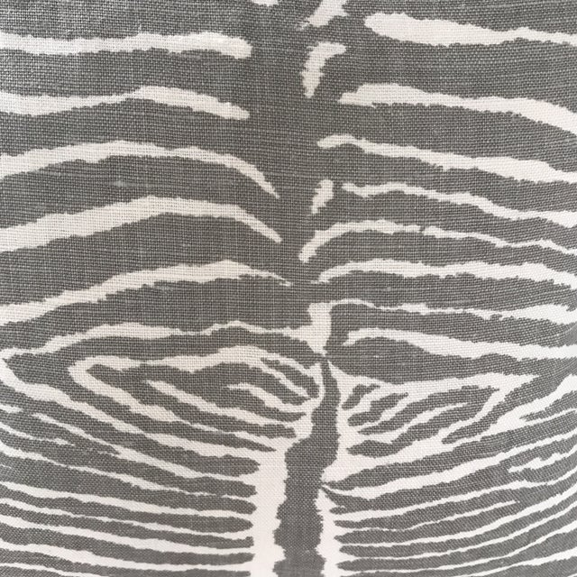 Boho Chic Brunschwig & Fils Le Zebre Pillows - A Pair For Sale - Image 3 of 5