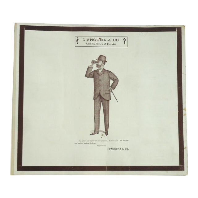 Antique Edwardian Men's Fashion Plate Print For Sale