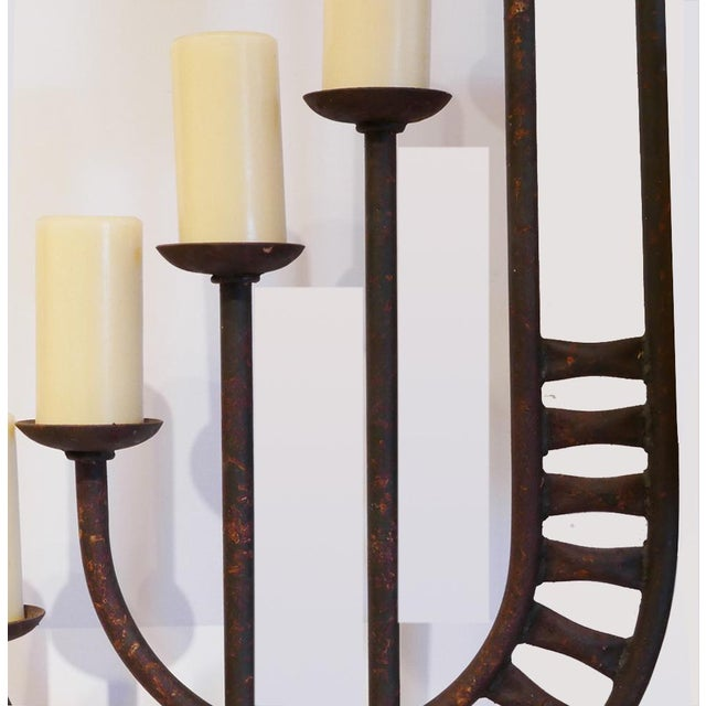 Mid-Century Brutalist Candelabra For Sale In Palm Springs - Image 6 of 7