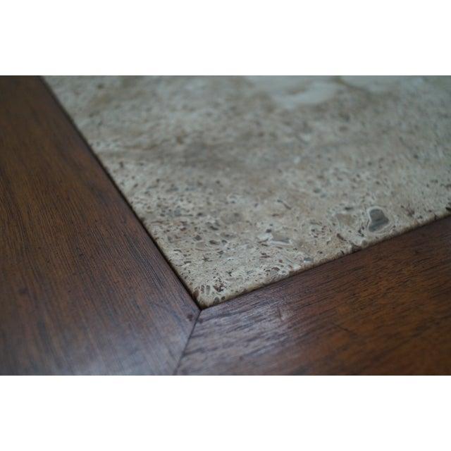 Mid Century Modern Long Walnut Coffee Table - Image 9 of 10