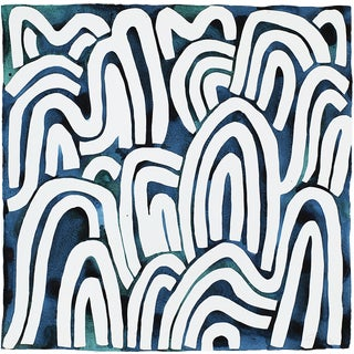 Blue and White Painting by Kate Roebuck For Sale