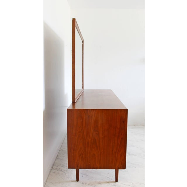 Mid-Century Modern 1960sMid-Century Modern Kipp Stewart for Drexel Declaration Walnut Dresser Credenza For Sale - Image 3 of 8