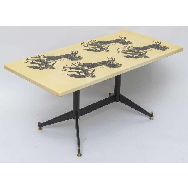 Black Piero Fornasetti Bighe Coffee Table For Sale - Image 8 of 11