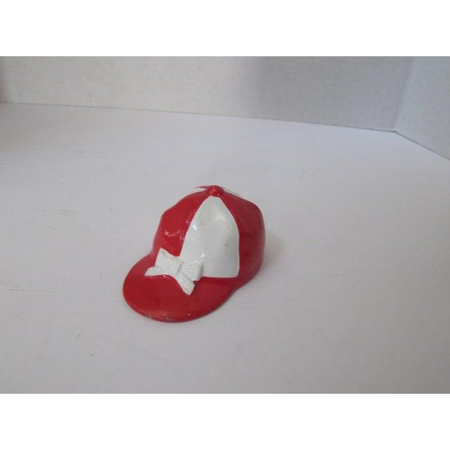 Vintage Red & White Jockey Cap Bottle Opener - Image 4 of 4
