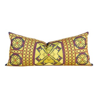 Lena Swati Embroidered Phulkari Pillow For Sale