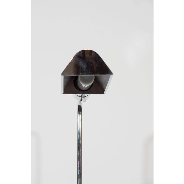 Casella Adjustable Reading Floor Lamp in Chrome For Sale In New York - Image 6 of 8