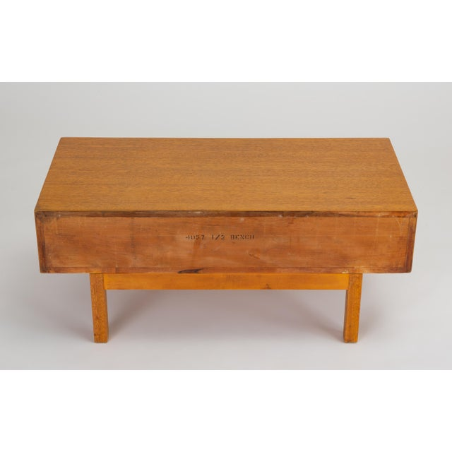Single Bench With Storage by John Keal for Brown Saltman For Sale - Image 9 of 13