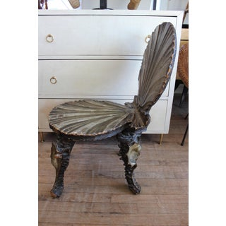 19th Century Italian Carved Wood Grotto Chair Preview