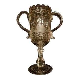 Antique English Glass Celery Vase For Sale