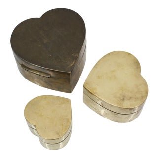 Heart Shaped Trinket Boxes S\3 For Sale