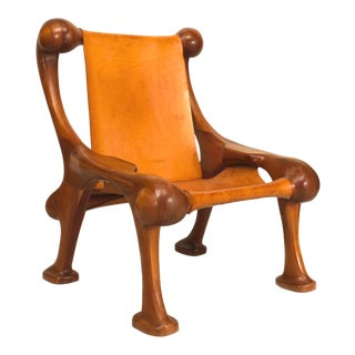 Post-War Cherrywood Arm Chair For Sale