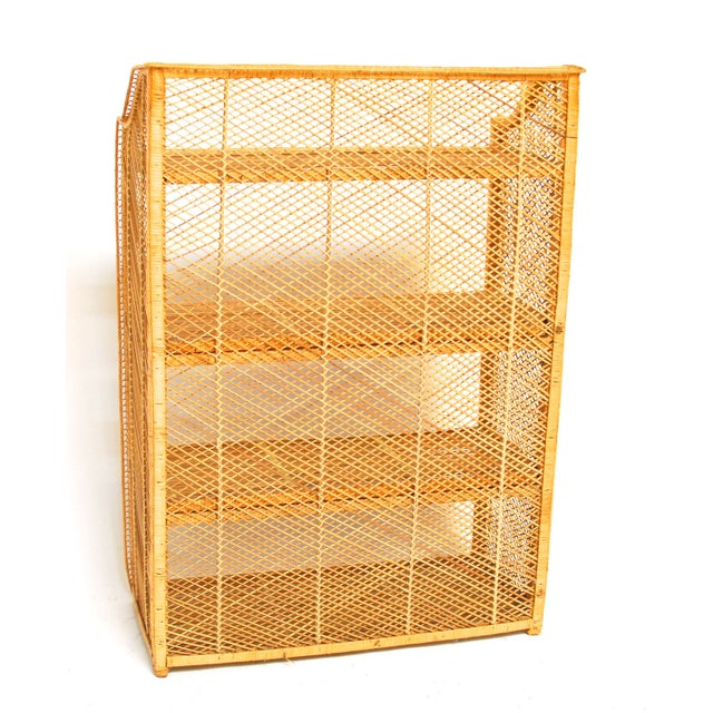 Natural Rattan Bamboo Etagere - Image 6 of 6