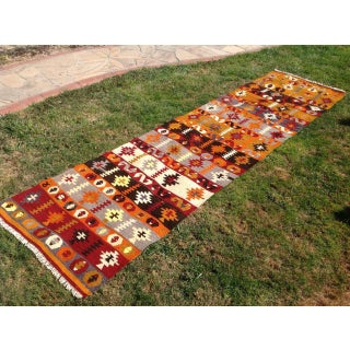 "Vintage Turkish Kilim Runner - 2'6"" X 9'10"" Preview"
