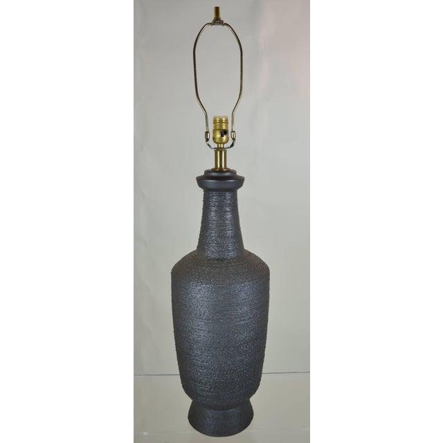 1950s Lee Rosen for Design Technics Ceramic Lamp For Sale - Image 5 of 6