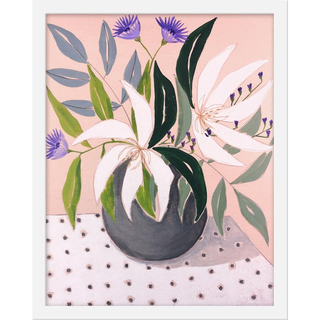 """Contemporary Small """"Flowers and Dots 2"""" Print by Marisa Anon, 16"""" X 20"""" For Sale - Image 3 of 3"""
