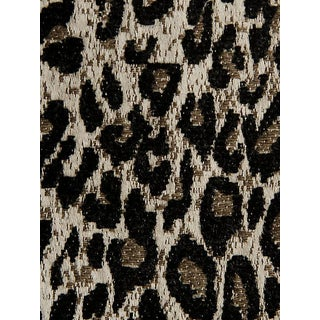 Sample, Scalamandre Leopard Print Black Fabric For Sale