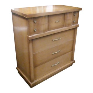Mid-Century Modern Harmony House Wave Front Chest of Drawers For Sale