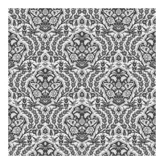Ottoman Small - Gray Wallpaper Remnant - Peel & Stick For Sale