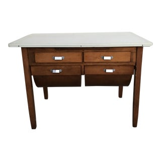1950s Arts and Crafts Possum Belly Bakers Table