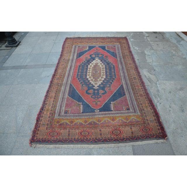 Vintage Turkish Oushak Carpet - 4′5″ × 8′ - Image 2 of 6
