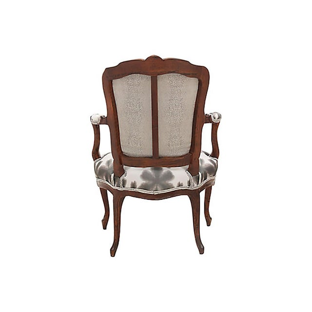 Kravet Scalamandre & Kravet Upholstered Louis XV Style Fauteuils, a Pair For Sale - Image 4 of 8