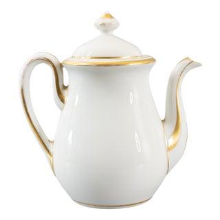 Antique 19th C. French Gilt Old Paris Teapot For Sale