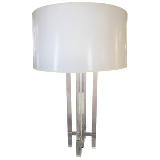 Fontana Arte 1954 Monumental Glass Table Lamp For Sale